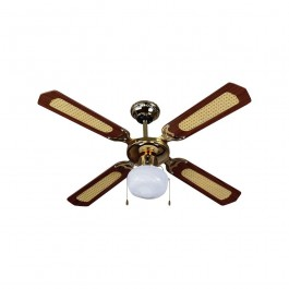 1 x E27 LED Ceiling Fan  4 Blades 50W AC Motor
