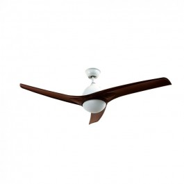 15W 3 in 1 LED Ceiling Fan RF Control 3 Blades Brown 35W DC Motor
