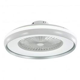 45W LED Box Fan Ceiling Light RF Control 3 in 1 Motor Grey Ring