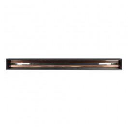 Recessed Aluminium Track Rail Black 0.5m