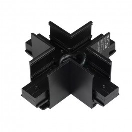 Cross Type Track Connector for Magnetic Lights