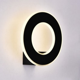 9W Wall Light Black Body IP20 Natural White