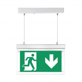 2W Surface Hanging Emergency Exit Light 12 Hours Charging White