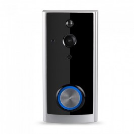 Smart Video Doorbell 2 Way Audio Black Body
