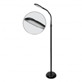 7W LED Floor Lamp 4000K Black Body