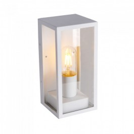 Wall Lamp 1*E27 Matt White Clear Glass