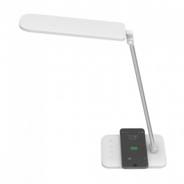 16W LED Table Lamp With Wireless Charger 3 in 1 White
