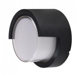 12W LED Wall Light Sami-Frame Black Round 3000K