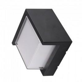 12W LED Wall Light Sami-Frame Black Square 3000K
