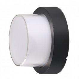 12W LED Wall Light Black Round 3000K