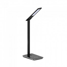 5W LED Table Lamp 3 in 1 Wireless Charger Square Black Body