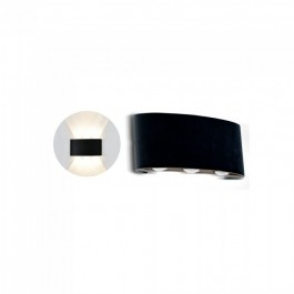 6W LED Wall Light Up & Down Sand Black IP54 4000K