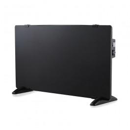 2000W LED Glass Panel Heater with Aluminium Heating Element Black IP24