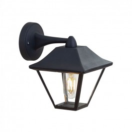 Wall Lamp E27 Matt Balck Clear Glass