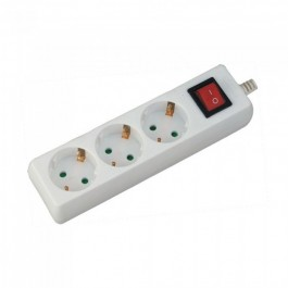 3 Ways Socket with Switch Cable 1.5m