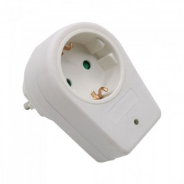 1 Way Adapter 16A White