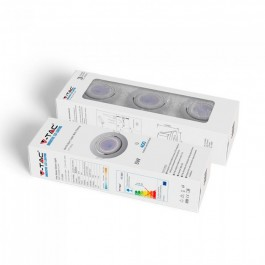 LED Spotlight GU10 with Fitting White Body 6400K 3pcs/Pack