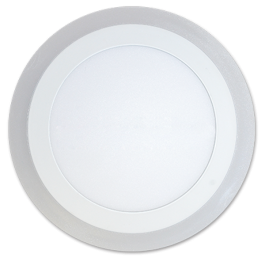 6W+2W LED Surface Panel - Round Warm White