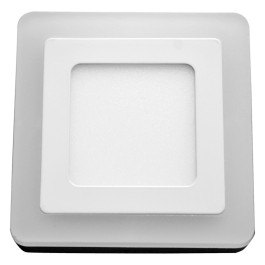 6W+2W LED Surface Panel - Square Warm White