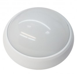 8W Dome Light Fitting White body Round 6000K