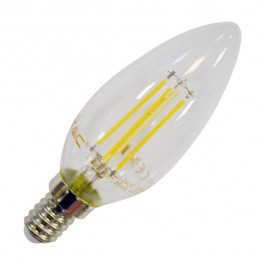 Filament LED Candle Bulb - 4W COG E14 Warm White Dimmable