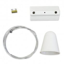 Hanging Track Light Kit 1M/4Line White