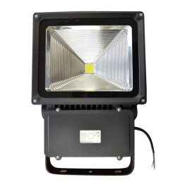 100W LED Floodlight Classic Reflector - Warm White, Black Body