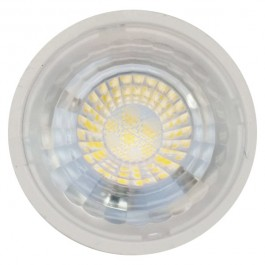 LED Spotlight - 7W GU10 Plastic with Lens White Dimmable