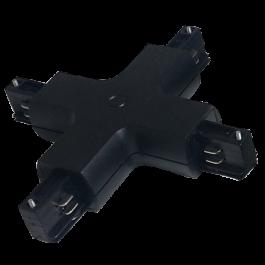 4X Track Light Connector Black