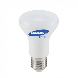 LED Bulb - SAMSUNG Chip 8W E27 R63 Plastic 6400K