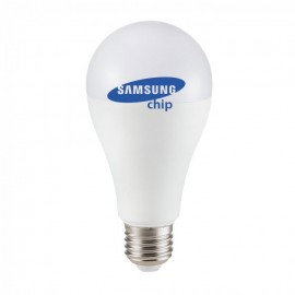 LED Bulb - SAMSUNG CHIP 17W E27 A65 Plastic Warm White