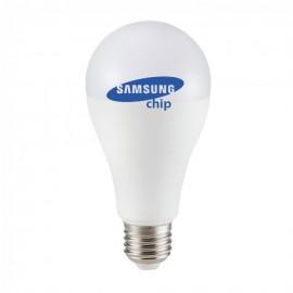 LED Bulb - SAMSUNG CHIP 15W E27 A65 Plastic Warm White
