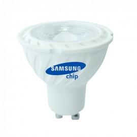 LED Spotlight SAMSUNG CHIP - GU10 7W Plastic SMD with Lens 4000K