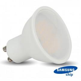LED Spotlight SAMSUNG CHIP - GU10 5W Smooth Plastic 110`D 6400K