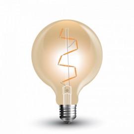 Filament LED Bulb - 4W E27 G95 Amber, Warm White