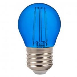 LED Bulb - 2W Filament E27 G45 Blue Color