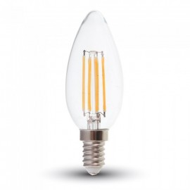 LED Bulb - 6W Filament E14 Clear Cover Candle White