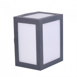 12W LED Wall Light Grey Body Natural White
